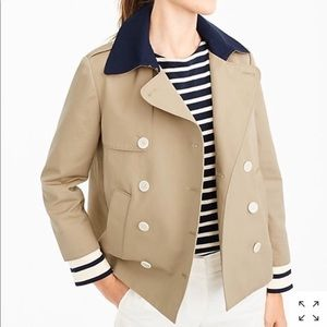 J Crew cropped Trench Coat
